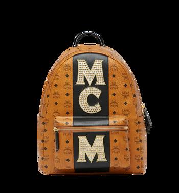 MCM Stark Logo Stripe Backpack in Visetos MMK8SVE82CO001 AlternateView