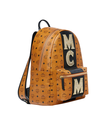 MCM Stark Logo Stripe Backpack in Visetos MMK8SVE82CO001 AlternateView2