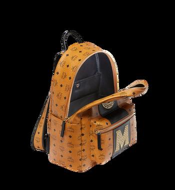 MCM Stark Logo Stripe Backpack in Visetos MMK8SVE82CO001 AlternateView5