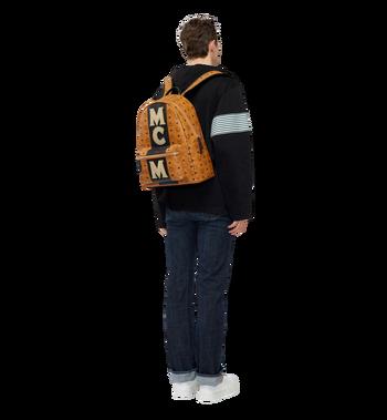 MCM Stark Logo Stripe Backpack in Visetos MMK8SVE82CO001 AlternateView6