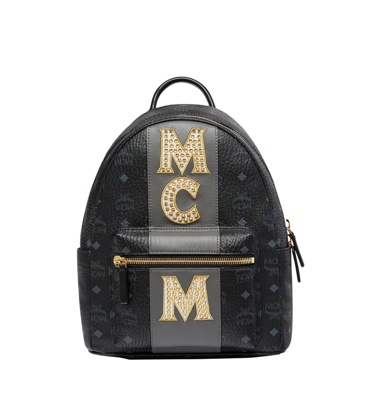 MCM Stark Logo Stripe Backpack in Visetos MMK8SVE84BK001 AlternateView