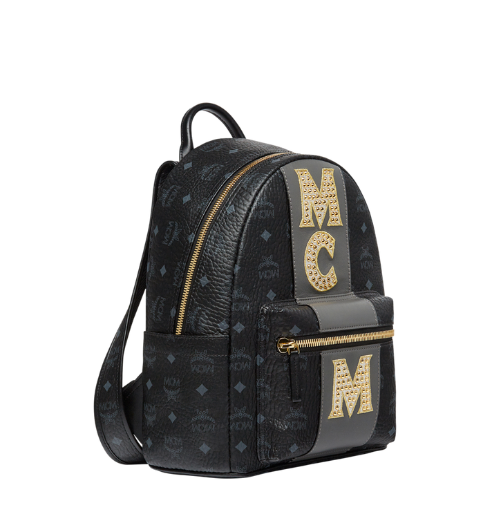 MCM Stark Logo Stripe Backpack in Visetos MMK8SVE84BK001 AlternateView2