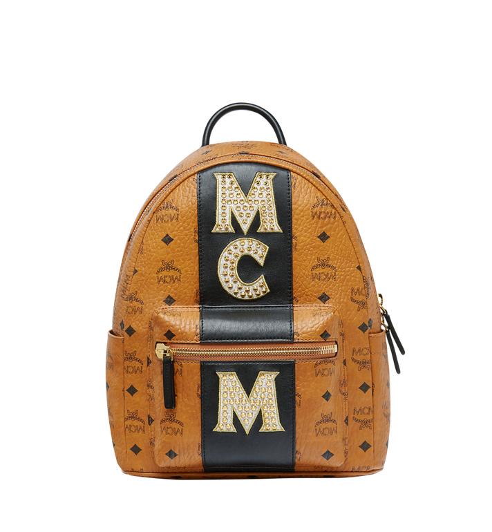 MCM Stark Logo Stripe Backpack in Visetos MMK8SVE84CO001 AlternateView1
