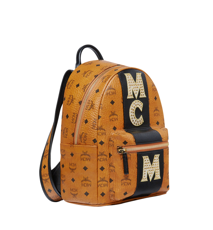 MCM Stark Logo Stripe Backpack in Visetos MMK8SVE84CO001 AlternateView2