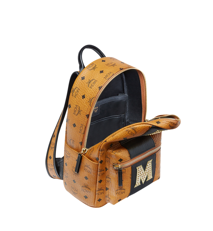 MCM Stark Logo Stripe Backpack in Visetos MMK8SVE84CO001 AlternateView5