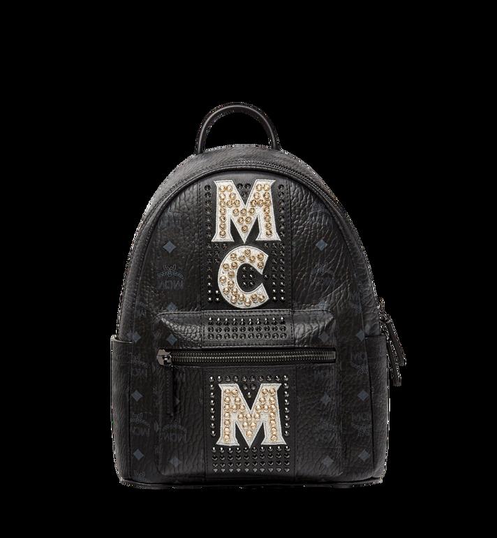 MCM Stark Logo Stripe Backpack in Visetos MMK8SVE94BK001 AlternateView