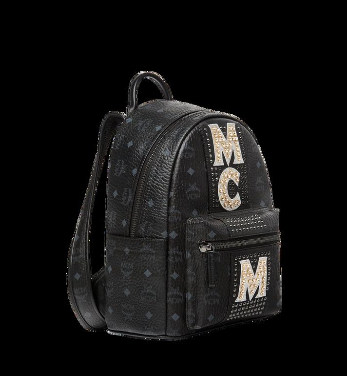MCM Stark Logo Stripe Backpack in Visetos MMK8SVE94BK001 AlternateView2