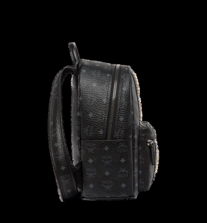 MCM Stark Logo Stripe Backpack in Visetos MMK8SVE94BK001 AlternateView3