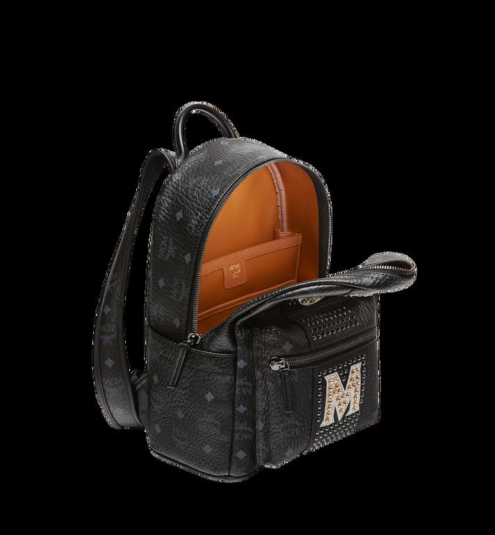 MCM Stark Logo Stripe Backpack in Visetos MMK8SVE94BK001 AlternateView5