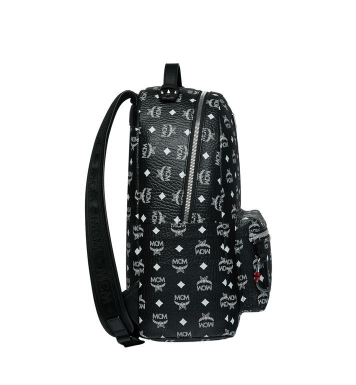 MCM Stark Backpack in White Logo Visetos MMK9SVE48BV001 AlternateView3