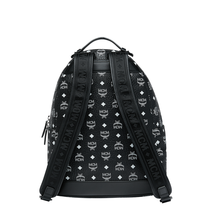 MCM Stark Backpack in White Logo Visetos MMK9SVE48BV001 AlternateView4