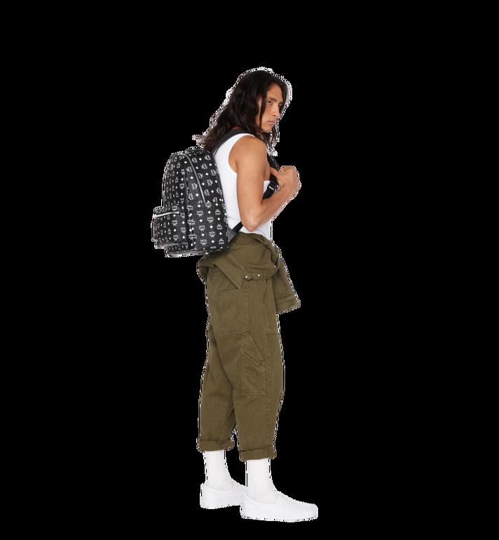 MCM Stark Backpack in White Logo Visetos MMK9SVE48BV001 AlternateView7