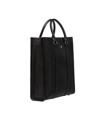 MCM Ottomar Tote in Grained Leather MMT8SOT45BK001 AlternateView2