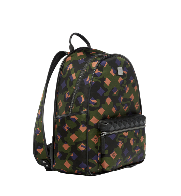 MCM Dieter Backpack in Munich Lion Camo Nylon MUK7ADT01GX001 AlternateView2
