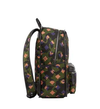 MCM Dieter Backpack in Munich Lion Camo Nylon MUK7ADT01GX001 AlternateView3