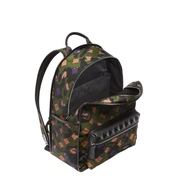 MCM Dieter Backpack in Munich Lion Camo Nylon MUK7ADT01GX001 AlternateView5