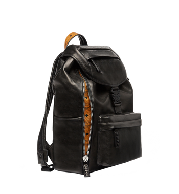 MCM Killian Backpack in Lambskin Leather MUK7SKB01BK001 AlternateView4