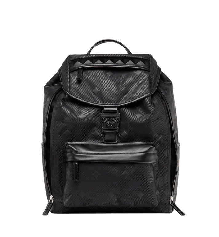 MCM Killian Backpack in Textured Camo Nylon MUK8ADT61BK001 AlternateView2