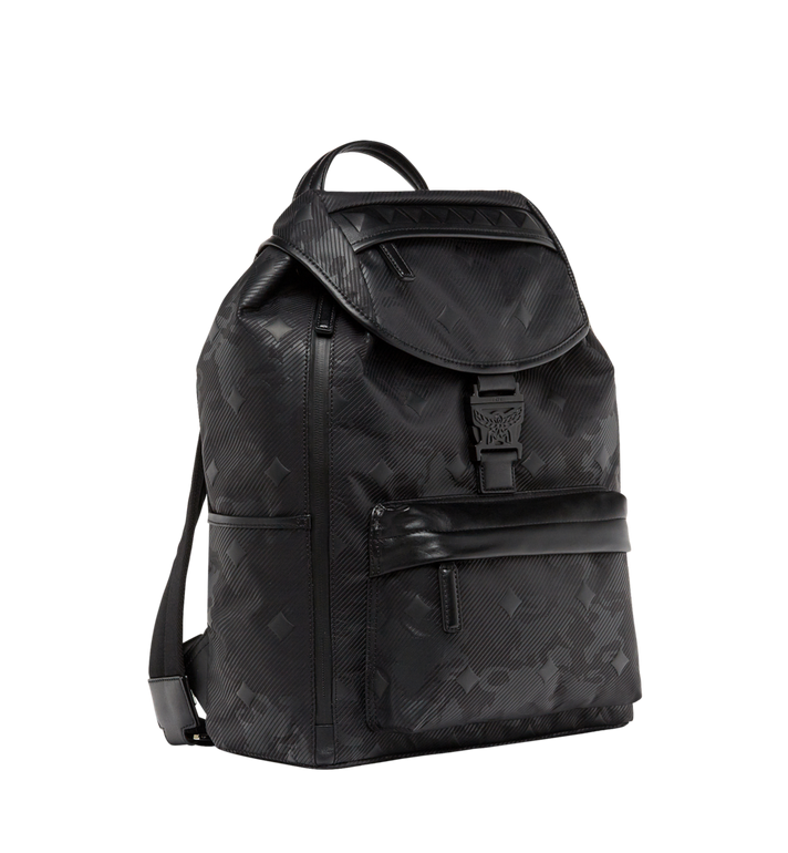 MCM Killian Backpack in Textured Camo Nylon MUK8ADT61BK001 AlternateView3