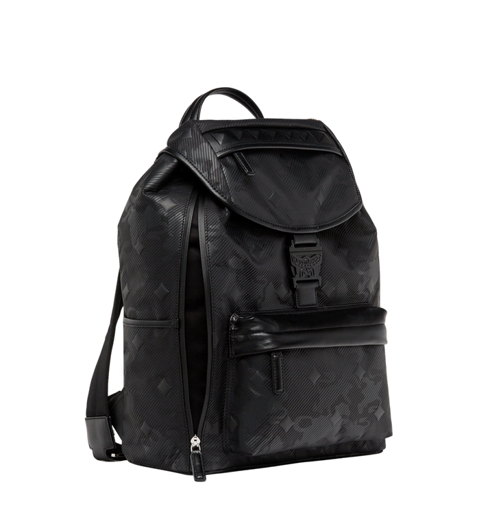 MCM Killian Backpack in Textured Camo Nylon MUK8ADT61BK001 AlternateView4