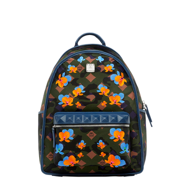 MCM Dieter Backpack in Floral Camo Nylon MUK8SDT76GX001 AlternateView