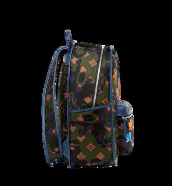 MCM Dieter Backpack in Floral Camo Nylon MUK8SDT76GX001 AlternateView3