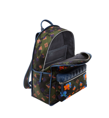 MCM Dieter Backpack in Floral Camo Nylon MUK8SDT76GX001 AlternateView5