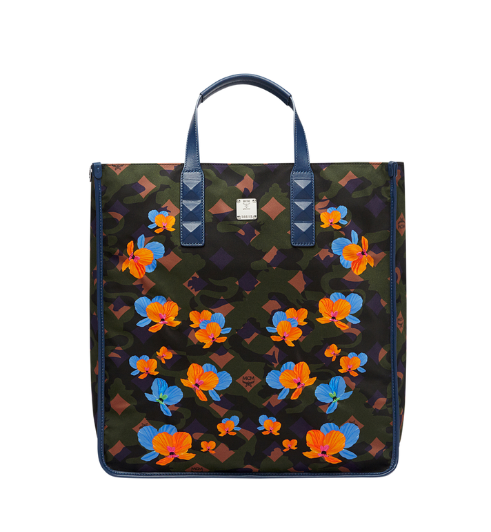 MCM Dieter Tote in Floral Camo Nylon MUT8SDT84GX001 AlternateView