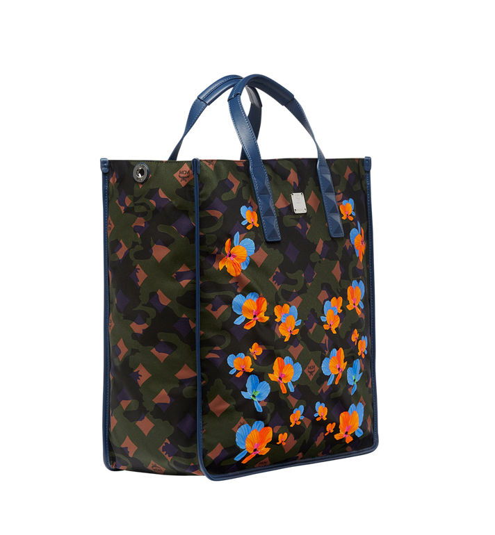 MCM Dieter Tote in Floral Camo Nylon MUT8SDT84GX001 AlternateView2