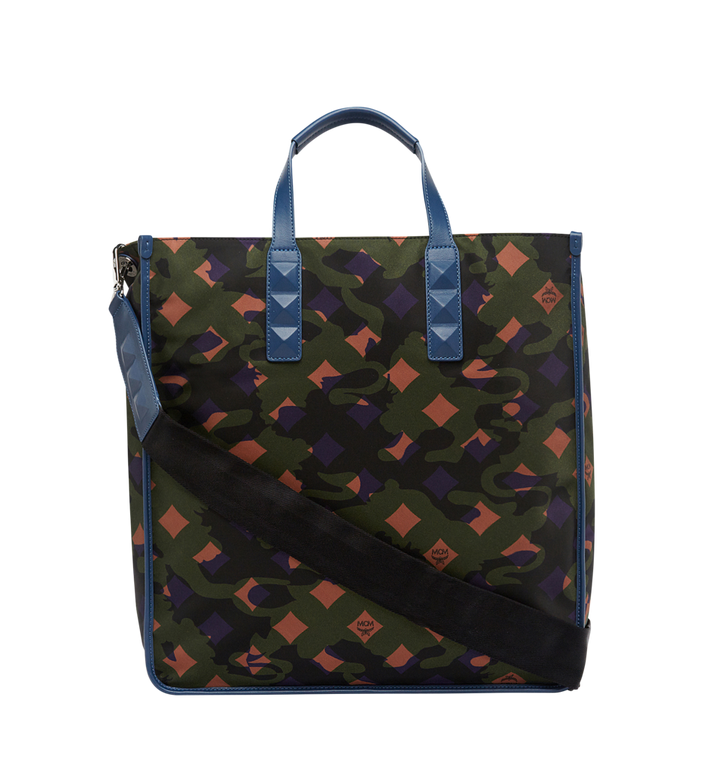 MCM Dieter Tote in Floral Camo Nylon MUT8SDT84GX001 AlternateView4
