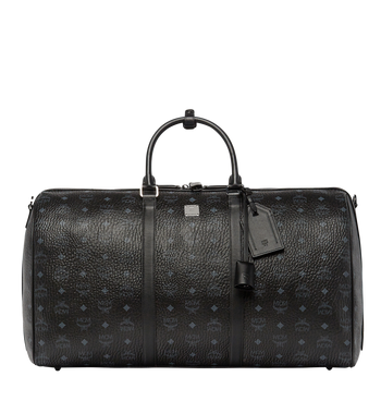 MCM Traveler Weekender in Visetos MUV7AVY01BK001 AlternateView1