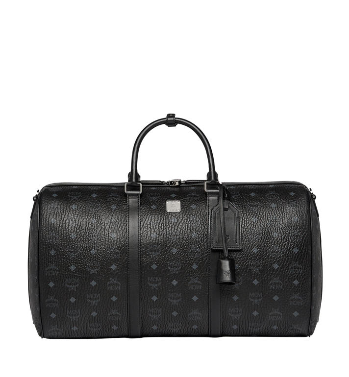 MCM Traveler Weekender in Visetos MUV7AVY02BK001 AlternateView1