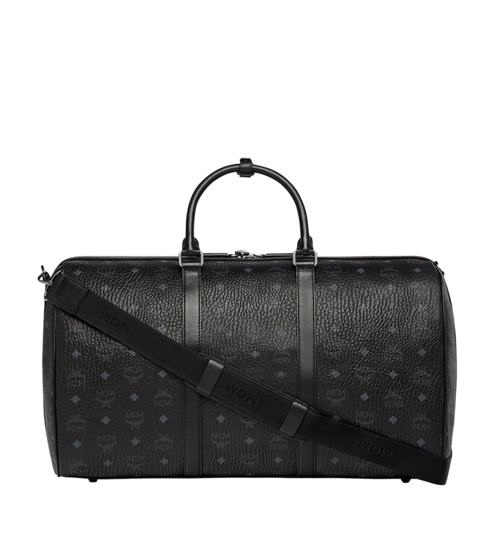 MCM Traveler Weekender in Visetos MUV7AVY02BK001 AlternateView4
