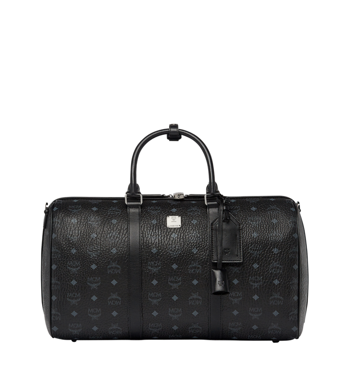 MCM Traveler Weekender-Tasche in Visetos MUV7AVY03BK001 AlternateView