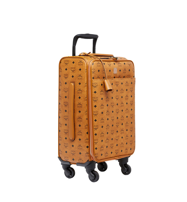 MCM Traveler Cabin Trolley in Visetos MUV8SVY04CO001 AlternateView2
