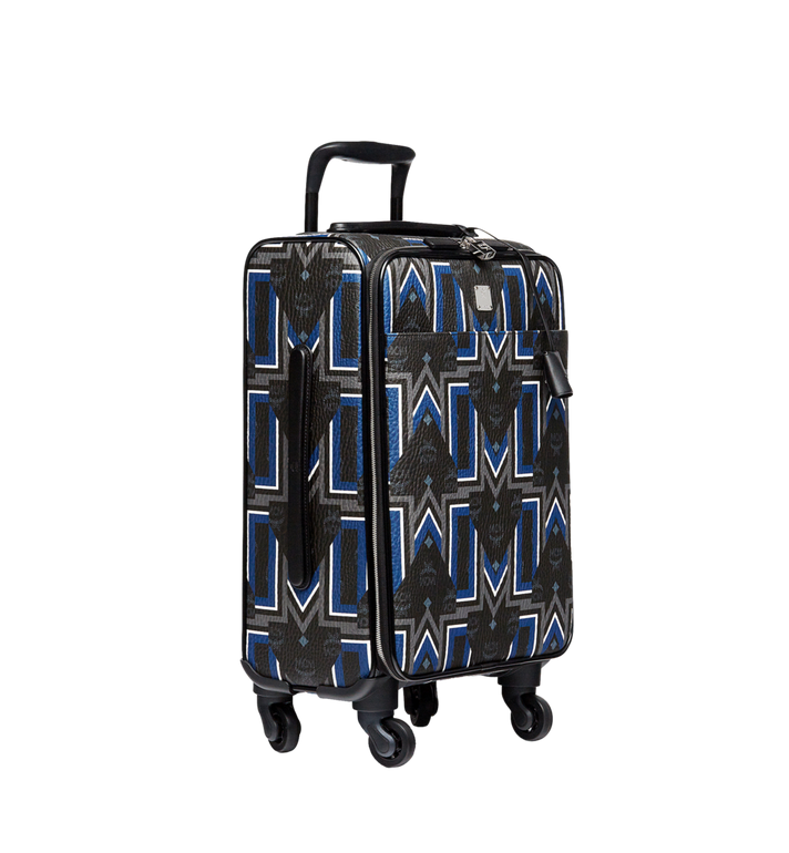 MCM Traveler Gunta M Stripe Cabin Trolley in Visetos MUV8SVY11BK001 AlternateView2