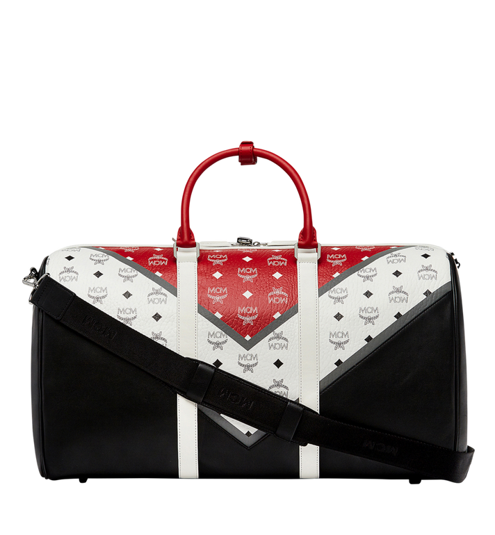 MCM Traveler Weekender in Chevron Stripe AlternateView4