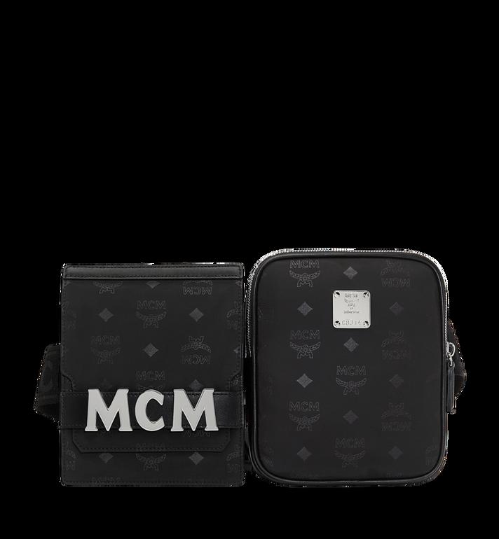 MCM Dieter Modular Belt Bag in Monogram Nylon MUZ8ADT22BK001 AlternateView
