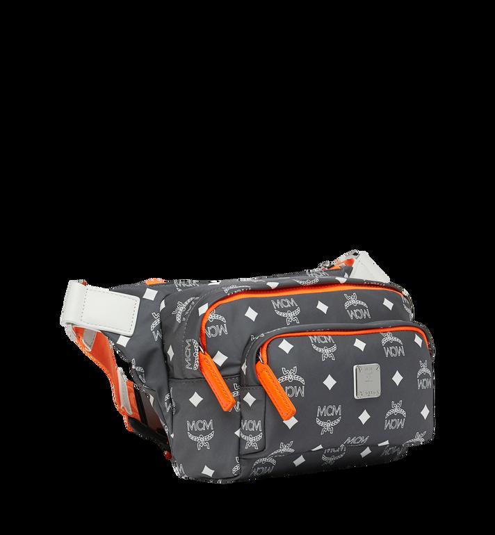 MCM Resnick Belt Bag in White Logo Nylon AlternateView2