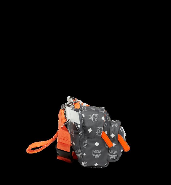 MCM Resnick Belt Bag in White Logo Nylon AlternateView3