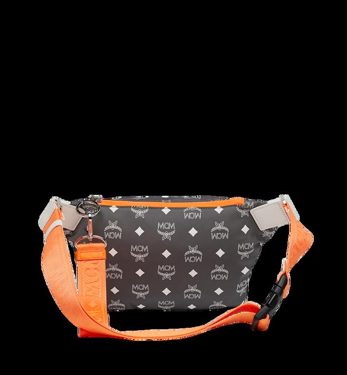 MCM Resnick Belt Bag in White Logo Nylon AlternateView4