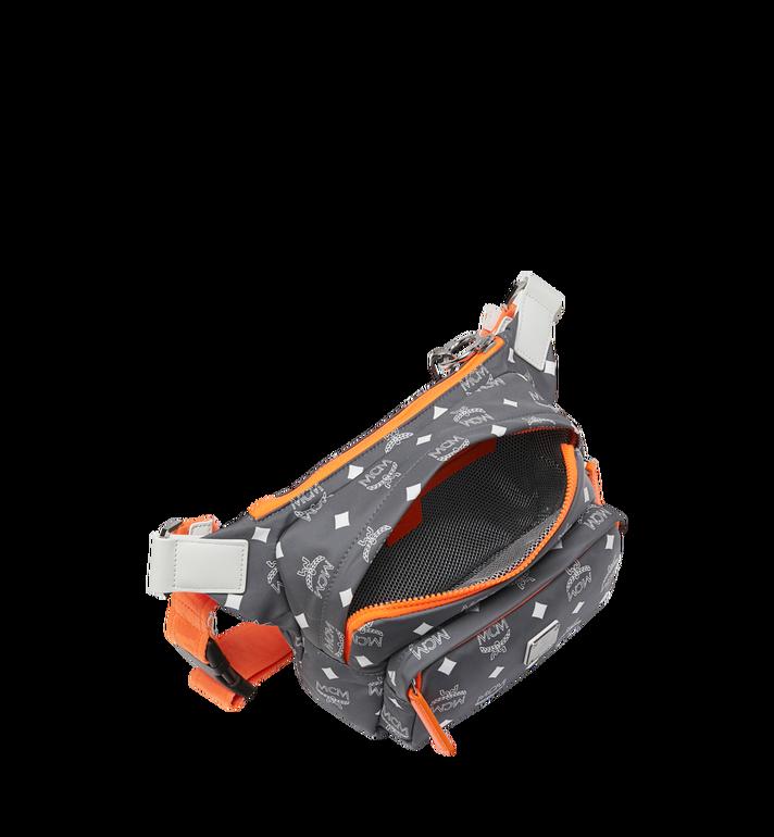 MCM Resnick Belt Bag in White Logo Nylon AlternateView5