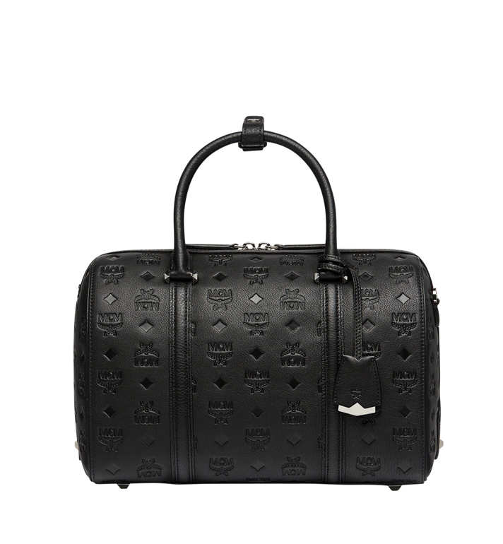 MCM Essential Boston in Monogram Leather MWB7ASE53BK001 AlternateView
