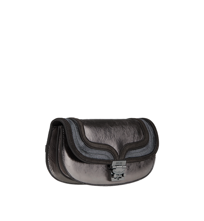 MCM Trisha Clutch in Foiled Leather MWC8ATS16SB001 AlternateView2