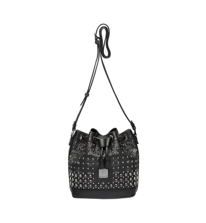 MCM Heritage Drawstring in Diamond Visetos MWD6SVI78BK001 AlternateView5