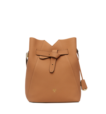 MCM Dessau Drawstring in Grained Leather MWD8SXD44CR001 AlternateView
