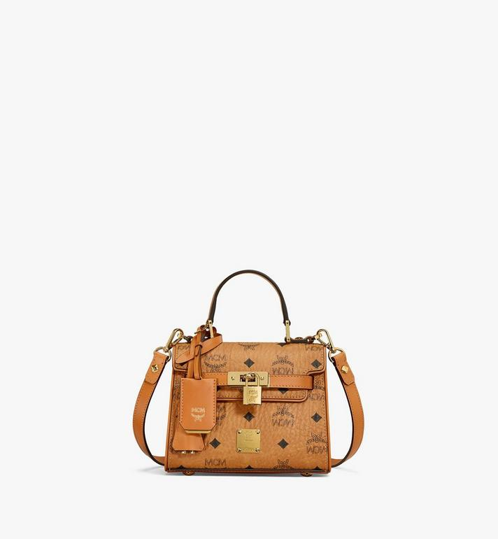 MCM Heritage Satchel in Visetos MWE6AVI63CO001 AlternateView
