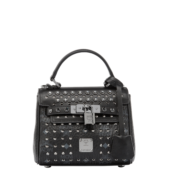MCM Diamond Satchel in Visetos MWE6SVI61BK001 AlternateView