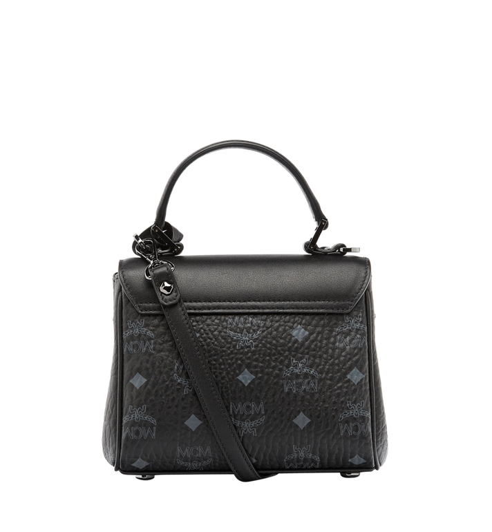 MCM Diamond Satchel in Visetos MWE6SVI61BK001 AlternateView4