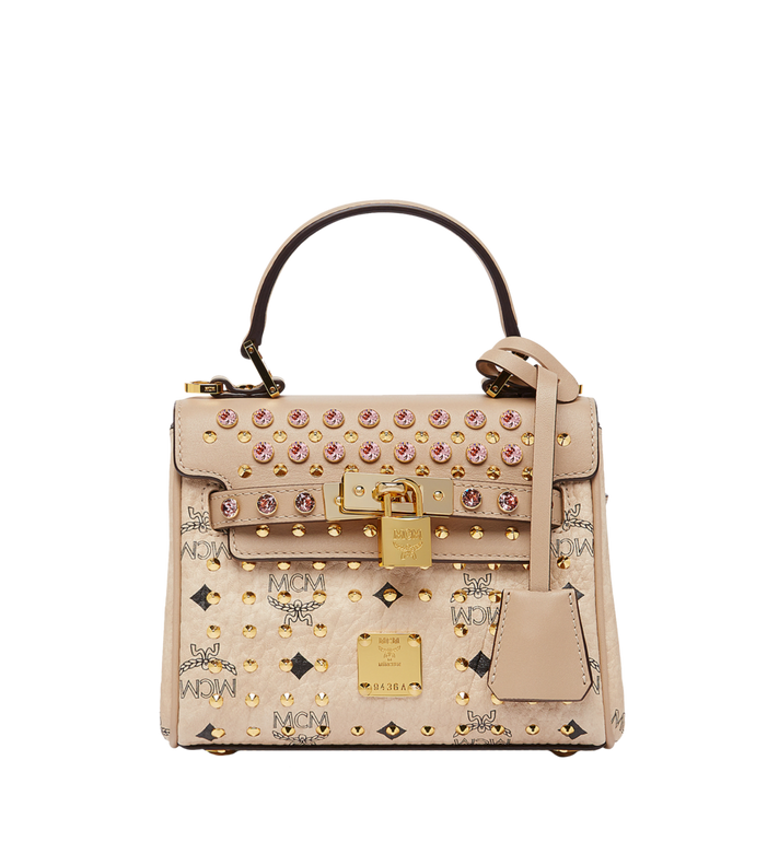 MCM Diamond Satchel in Visetos MWE7SVI61IG001 AlternateView